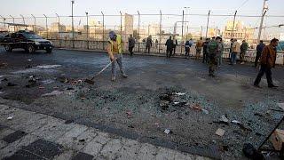 قتلى وجرحى في تفجير مزدوج وسط بغداد     -