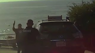 Suicidal Woman Gets Shot After Pointing BB Gun At Laguna Beach Police Officers - Dash Cam