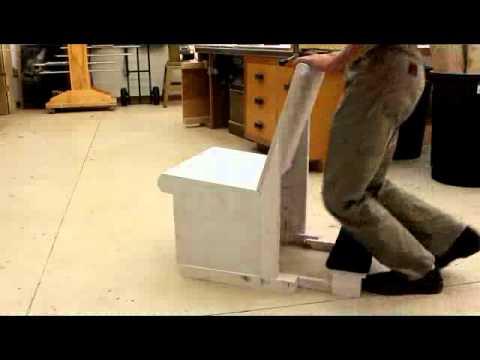 Pew Chair Prototype - Kneeler Action Demonstrated