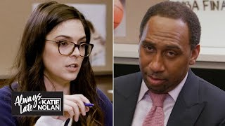 Katie Nolan quizzes Stephen A., Jalen Rose and more on the NBA Finals | Always Late with Katie Nolan