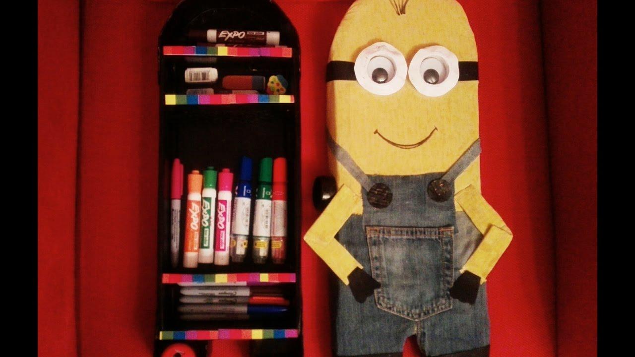 DIY: Minions storage box/ back to school craft