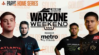 SURVIVAL OF THE FITTEST (SOLOS) — PRO WARZONE CUSTOM LOBBY   Warzone Weekend #3   Paris Home Series