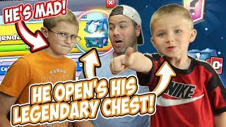 HE OPENS THE WRONG LEGENDARY CHEST! OOPS!  Logan Gets SO MAD! Hilarious