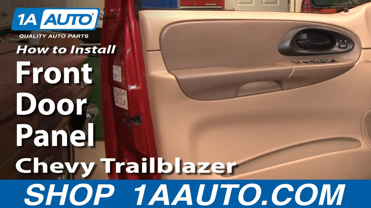 How To Install Replace Remove Front Door Panel Chevy ...