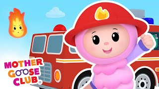 Fire Engine, Fire Engine | Mother Goose Club Cartoons #NurseryRhymes