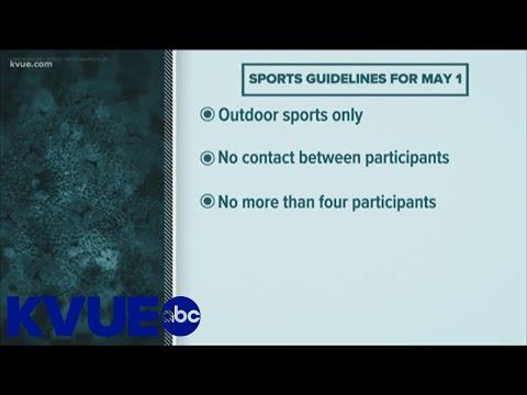 Gov. Greg Abbott announces new guidelines for sports | KVUE