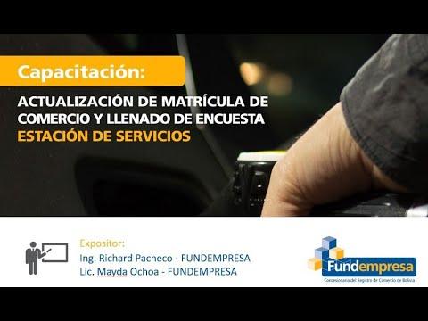Actualización de Matrícula de Comercio - ESTACIÓN DE SERVICIOS