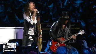 "Steven Tyler, Slash, and Train ""Dream On"" at the Howard Stern Birthday Bash (2014)"