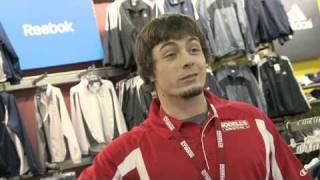 Danny Woodhead as Modell's Employee Selling his own Reebok Jersey