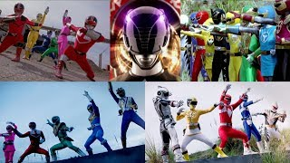 All Power Rangers Team Ups Morphs | Hasbro Compilation | Superheroes