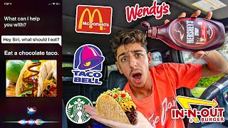 Letting SIRI Decide What I EAT For 24 HOURS!!