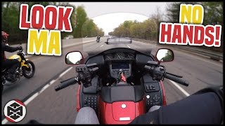 RIDING WITH NO HANDS! | First Ride on a Honda Goldwing!