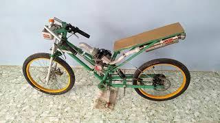 Chi tiết và test xe đạp độ drag máy cắt cỏ sẽ... NTN