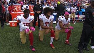 Colin Kaepernick Wears Muhammad Ali Shirt Amid Backlash For Kneeling Again
