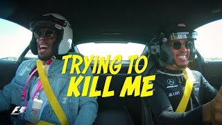 Lewis Hamilton vs. Usain Bolt - Crazy AMG Onboard Action in Austin!