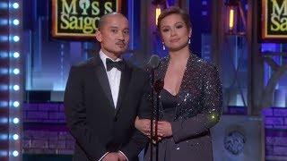 Lea Salonga and Jon Jon Briones at the Tony Awards