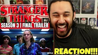 STRANGER THINGS   Season 3   FINAL TRAILER - REACTION!!!
