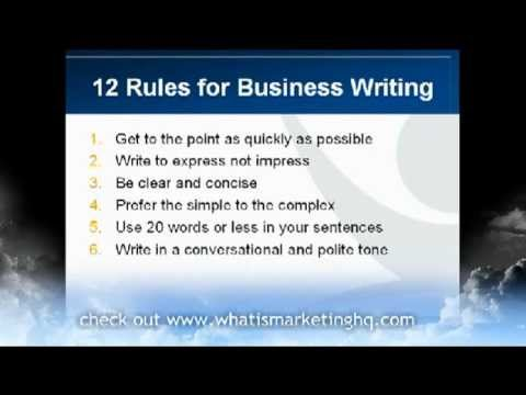 small but effective business writing