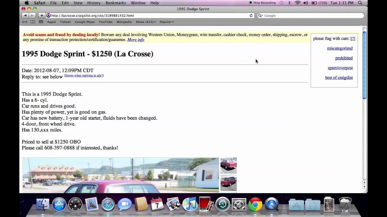 Used Cars Madison Wi >> Craigslist La Crosse Wisconsin Used Cars and Trucks for ...