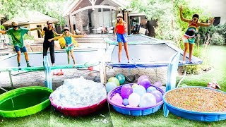 DON'T JUMP into THE WRONG MYSTERY POOL!! Family Challenge w/ The Shumway Show