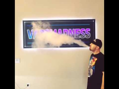 Blowing clouds at vape madness