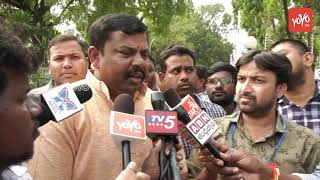 BJP MLA Raja Singh Speaks to Media at KCR Oath Taking Cere..