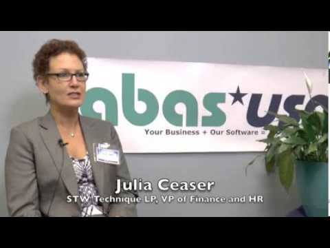 "Julia from STW talks about how ""you can do anything with abas,"" at Customer Day 2013."