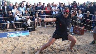 AMERICAN NINJA vs MMA FIGHTER !!! Crazy Fight !!!