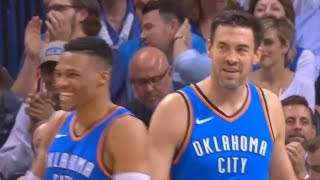 Russell Westbrook & OKC Thunder Crowd Give Nick Collision Standing Ovation with Thunder Players