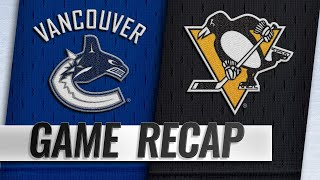 Boeser scores OT winner to propel Canucks past Pens