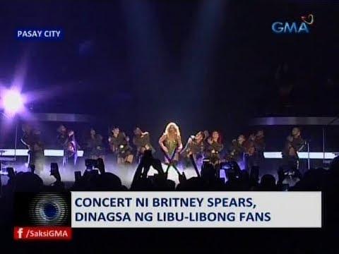 Saksi: Concert ni Britney Spears, dinagsa ng libu-libong fans
