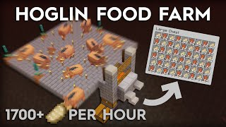 Minecraft Hoglin Food and Leather Farm - Super Easy - 1.16/1.16.1