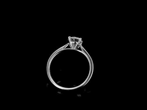 Browns Family Jewellers 18 Carat White Gold Diamond Solitaire Ring