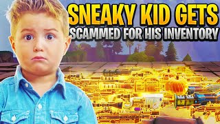 Insanely Sneaky Scammer Loses Whole Inventory! (Scammer Gets Scammed) Fortnite Save The World