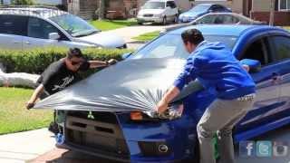 Evo X Carbon Fiber Hood Wrap