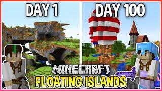 I Spent 100 Days on Floating Islands in Minecraft... (1.17 Snapshot)