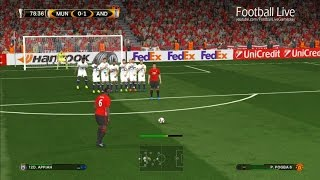 PES 2017 | Manchester United vs Anderlecht | Free Kick Goal Pogba & Full Match | UEFA Europa League