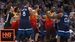 Jeff Teague Hard Foul On Ricky Rubio / Ejected From The Game / Timberwolves vs Jazz