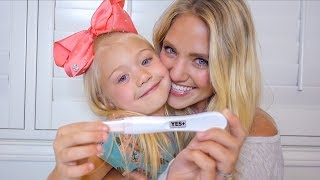 TELLING EVERLEIGH HER MOMMY IS PREGNANT!!! (TELLING OUR PARENTS TOO)