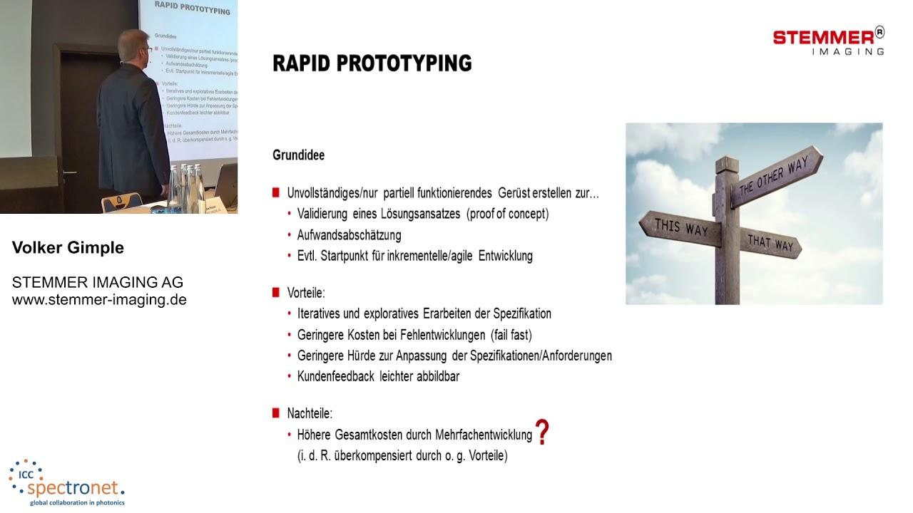 Moderne Anwendungsentwicklung und Rapid Prototyping mit CVB++, .Net, Python - Technologieforum Bildverarbeitung 2019