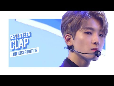 SEVENTEEN - CLAP Line Distribution (Color Coded) | 세븐틴 - 박수
