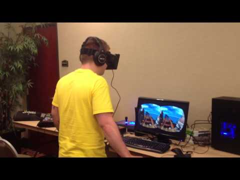 This Guy Can't Handle A Virtual Roller Coaster