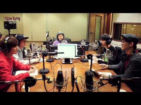 정오의 희망곡 김신영입니다 - EXO D.O's beat box, BAEK HYUN's toss - 엑소 디오의 비트박스, 백현의 토스 20131217