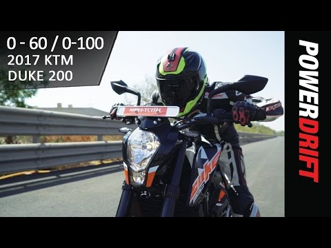 KTM Duke 200 (2017) : 0 to 60 - 0 to 100 Speed Test : PowerDrift