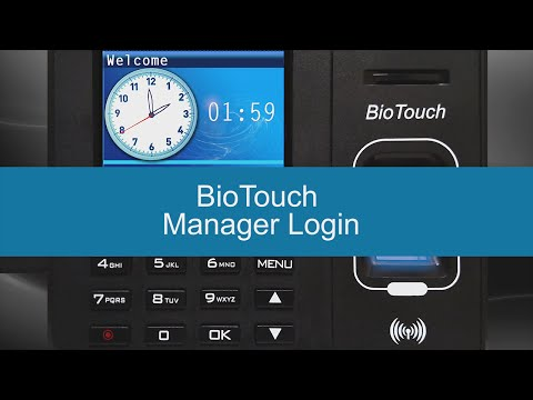 BioTouch - Manager Login