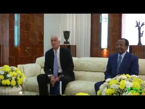 Audience accordée à S.E.  Peter Henry Barlerin, Ambassadeur des USA au Cameroun