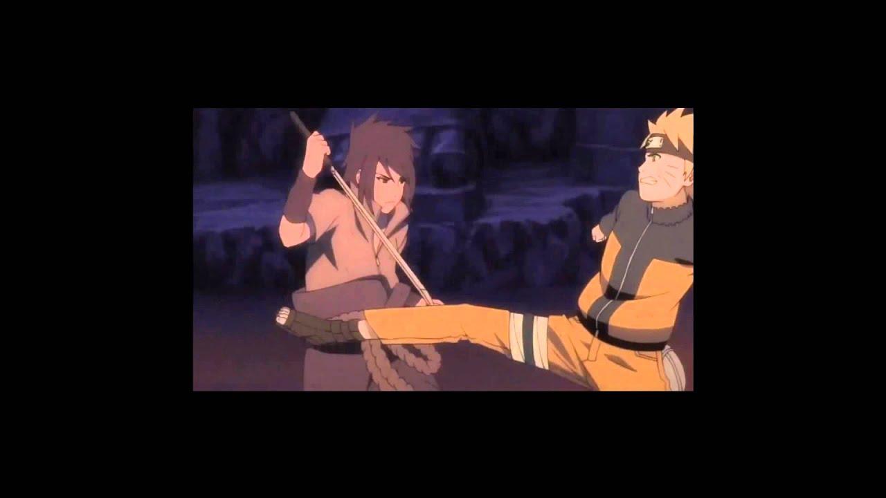 HD 1080p Naruto Kyuubi Mode / Sage Mode Vs Sasuke Susanoo ...