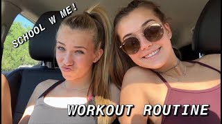 school vlog and workout w/ me
