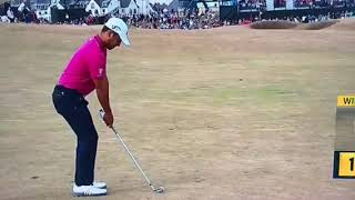 """Schauffele says """"oh shit"""" on TV at The Open"""
