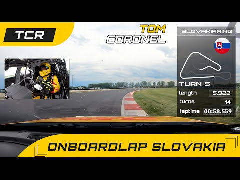 Onboardlap with infographics, Slovakiaring TCR Europe with Tom Coronel in the Audi RS3 LMS 2021